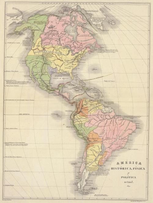 América_física_y_política_1840